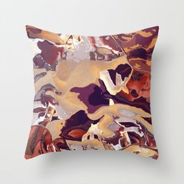 Liquid Beige Throw Pillow