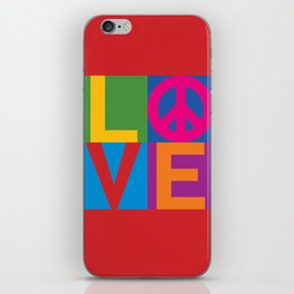 Love Peace Color Blocked iPhone Skin