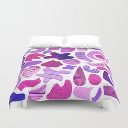 purple blue collage Duvet Cover