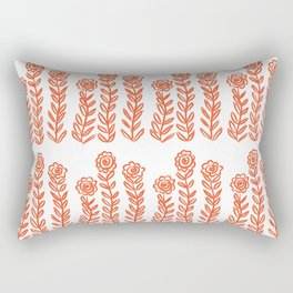 Flower Party in Flame Rectangular Pillow