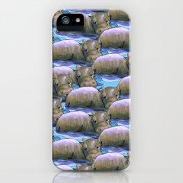 hippo squad iPhone Case