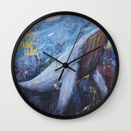 wind and waves grew calm Wall Clock