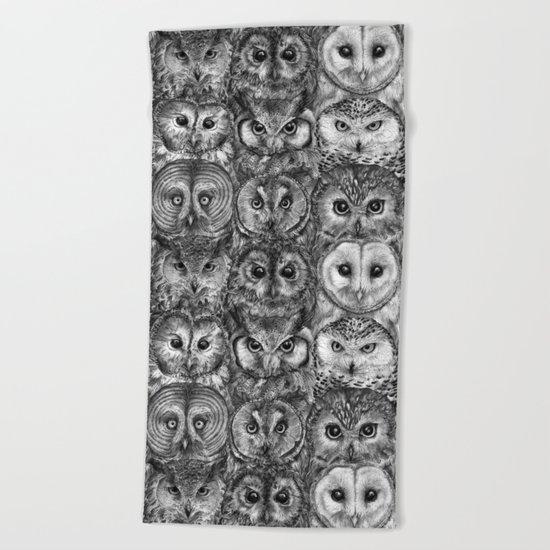 Owl Optics BW Beach Towel