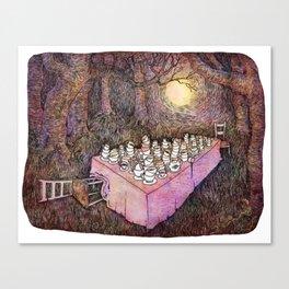 After Tea Canvas Print