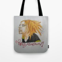 tim shumate Tote Bags featuring Tim Minchin. by TheArtOfFaithAsylum