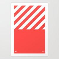 Infrared Lines / White Art Print
