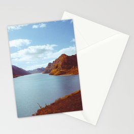 Blue Lake in Scandinavia Stationery Cards