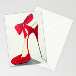 Red High Heel Shoe Stationery Cards