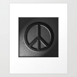 Peace Stone Texture Art Print