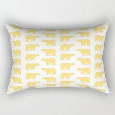Gold Bears - foil glitter sparkle gold pattern print bear golf golfing nature trendy hipster sports Rectangular Pillow