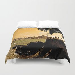 Auckland from Mission Bay Duvet Cover