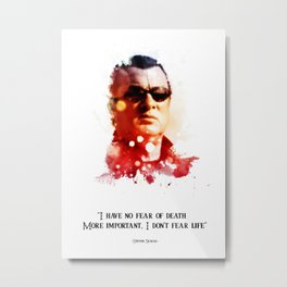 Stephen seagal splatter quotes Metal Print