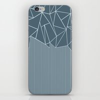 Ab Lines Blues iPhone & iPod Skin