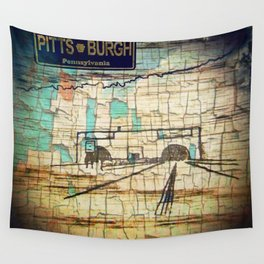 Distressed Compilation Wall Tapestry
