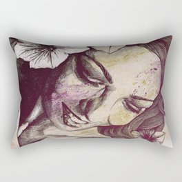 In The Year Of Our Lord: Wine (smiling lady with petunias) Rectangular Pillow
