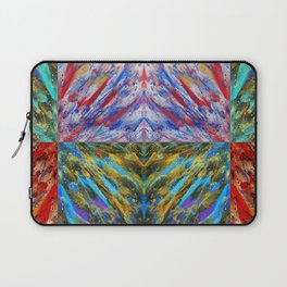 Abstraction Alteration x 6 - Abstract Painting - Bright Colorful Laptop Sleeve