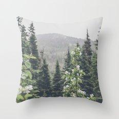 Forest Rain Throw Pillow