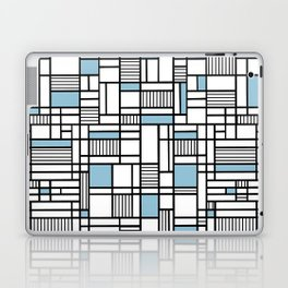 Map Lines Sky Blue Laptop & iPad Skin
