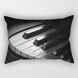 Black & White Piano Keys Rectangular Pillow
