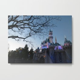 Disneyland Sleeping Beauty Castle during Sunset Metal Print
