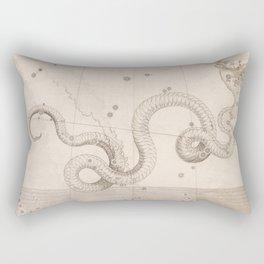 Johann Bayer - Uranometria / Measuring the Heavens (1661) - 14 Serpens / The Snake Rectangular Pillow