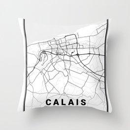 Calais Light City Map Throw Pillow