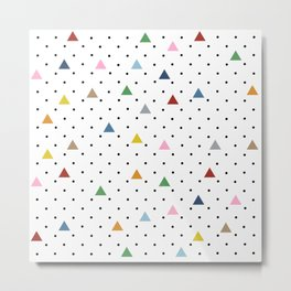 Pin Point Triangles Metal Print