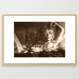 Just lay down (kate moss) Framed Art Print