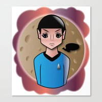 spock Canvas Prints featuring Spock by hannahroset