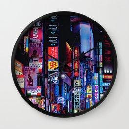 Cyberpunk Tokyo Japan Wall Clock