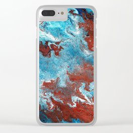 Fantasy in Copper and Blue Clear iPhone Case