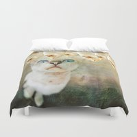 games Duvet Covers featuring Hunger Games by Sandy Broenimann