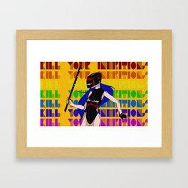 Kill Your Inhibitions Framed Art Print