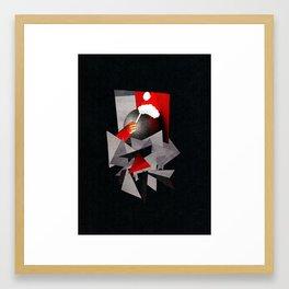 A Fractured Christmas Framed Art Print