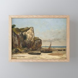 Beach in Normandy by Gustave Courbet,1875 Framed Mini Art Print
