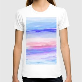 New World Horizon in Shades of Blue, Lilac and Pink T-shirt