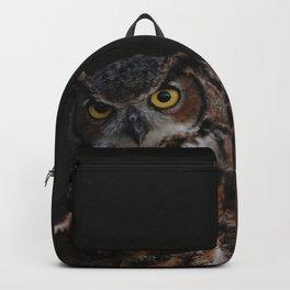 owl bird photo Backpack