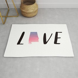 Alabama Love - Sunset Watercolor State Rug