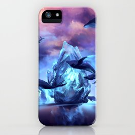 When the moon is closer iPhone Case