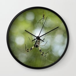 Orb Weaver Spider Wall Clock