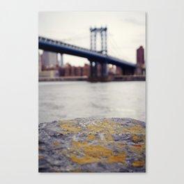 Manhattan Bridge from Afar Canvas Print