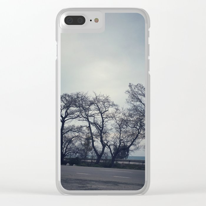 Road Between Forest and Sea Clear iPhone Case