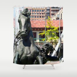 JC Nichols Fountain Shower Curtain