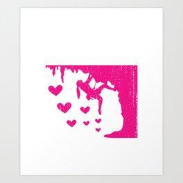 Just A Girl Who Loves Climbing Bouldering or Climbing Girl Gift Art Print