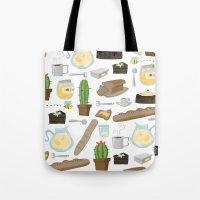 bread Tote Bags featuring Bread by Ceren Aksu Dikenci