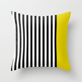 Liquorice allsorts, yellow Throw Pillow