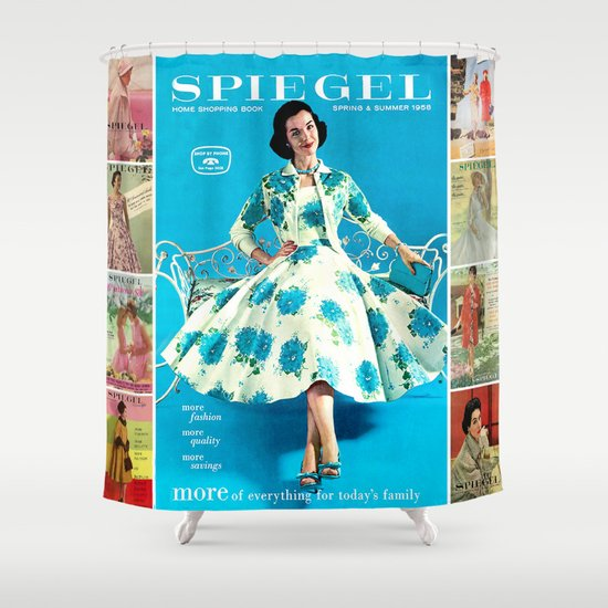 1958 Spring/Summer Spiegel Catalog Shower Curtain