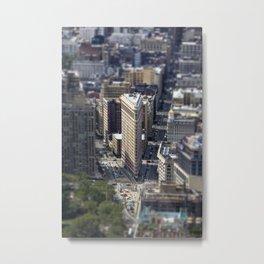 Flatiron from above. Metal Print