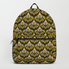 Abstract fantasy floral damask pattern 1 Backpack