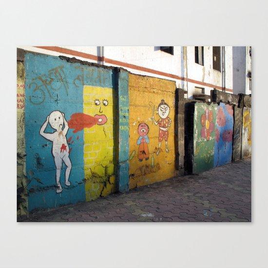 Street Art Bombay III Canvas Print